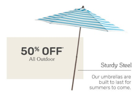 50% Off All Outdoor from Pier 1 Imports