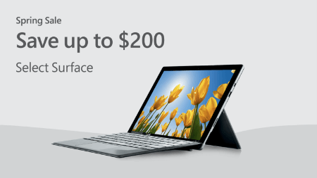 Microsoft Surface Spring Sale from Microsoft