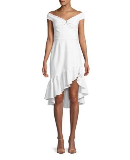 Wayf Ruffled Off-The-Shoulder Dress