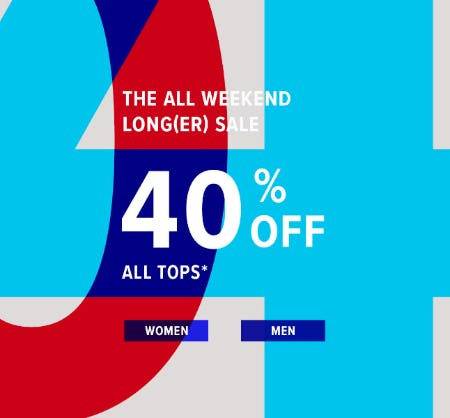 40% Off All Tops from Lucky Brand Jeans