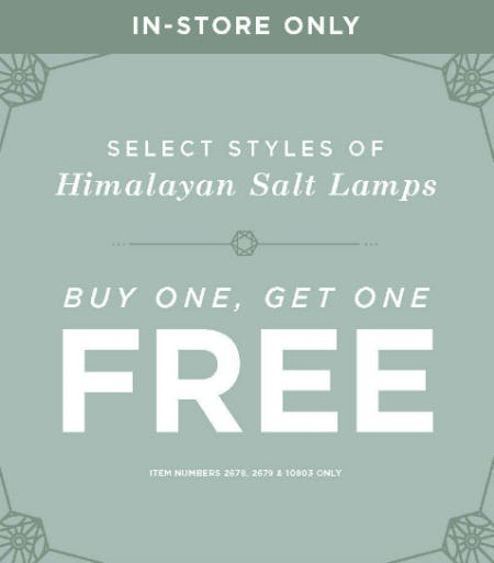 BOGO Free Himalayan Salt Lamps from Earthbound Trading Company
