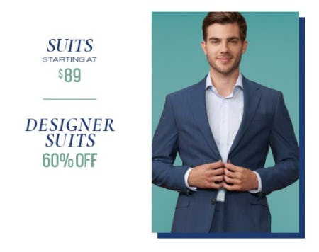 Suits Starting at $89 & Designer Suits 60% Off from Men's Wearhouse