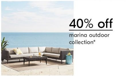 40% Off Marina Outdoor Collection from West Elm