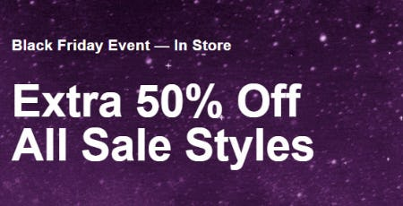 Extra 50% Off Black Friday Event from Call It Spring