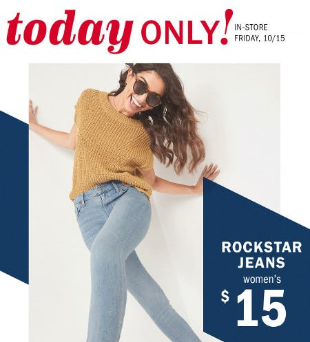 $15 Rockstar Jeans for Women from Old Navy