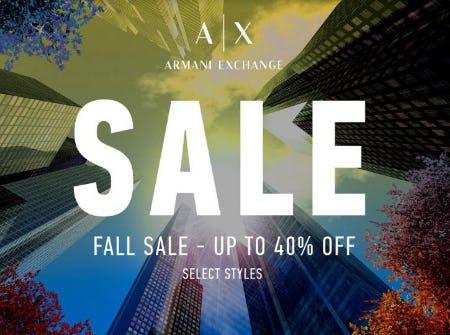 A/X Armani Exchange Fall Sale from A|X Armani Exchange