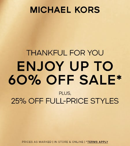 Thanksgiving Week Sale from Michael Kors
