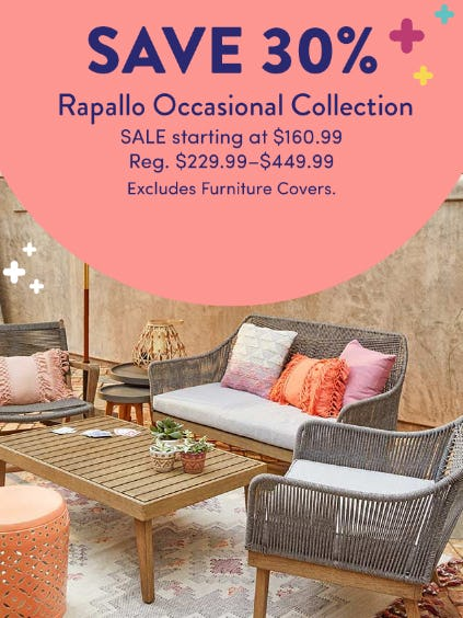 Save 30% on The Rapallo Occasional Collection from Cost Plus World Market