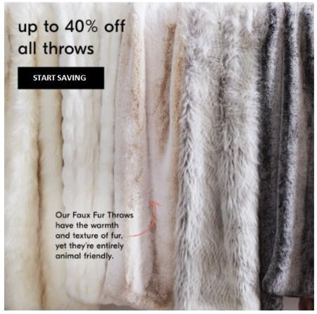 Up to 40% Off All Throws from West Elm