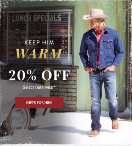 20% Off Select Outerwear