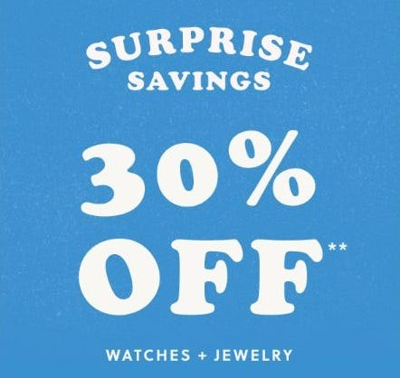 30% Off Watches and Jewelry from Fossil