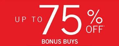 Up to 75% Off Bonus Buys from Belk