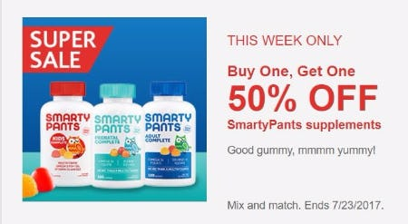 BOGO 50% Off SmartyPants Supplements