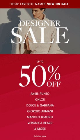 Up to 50% Off Designer Sale from Neiman Marcus