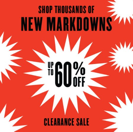 Up to 60% Off Clearance Sale from Nordstrom