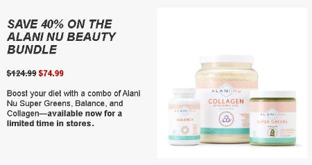 Save 40% on the Alani NU Beauty Bundle from GNC