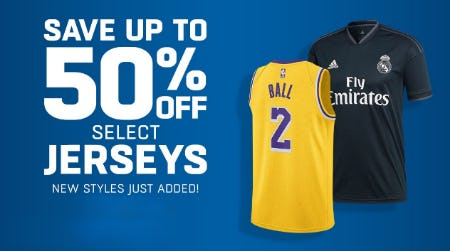Up to 50% Off Select Jerseys from Lids