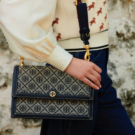 T Monogram Shoulder Bag from Tory Burch