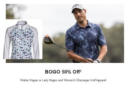 BOGO 50% Off Walter Hagen or Lady Hagen and Women's Slazenger Golf Apparel