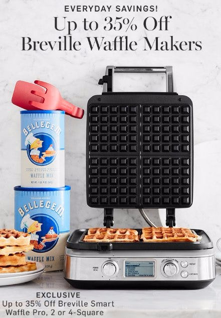 Up to 35% Off Breville Waffle Makers
