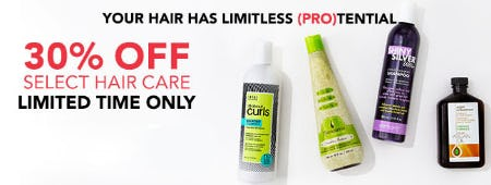 30% Off Select Hair Care