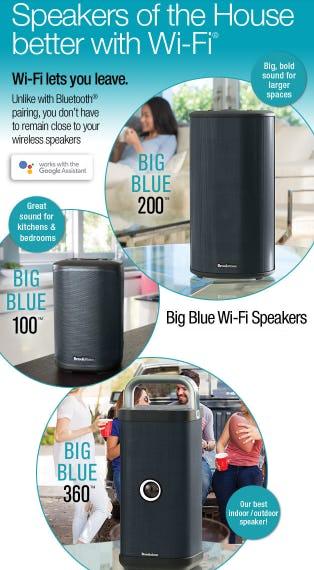 Big Blue Wi-Fi Speakers