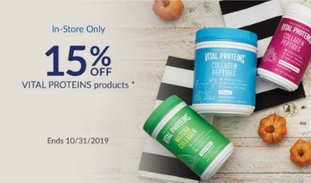 15% Off Vital Proteins Products from The Vitamin Shoppe