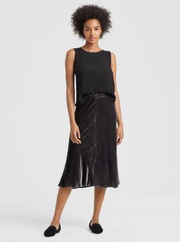 Velvet Bias Skirt from Eileen Fisher