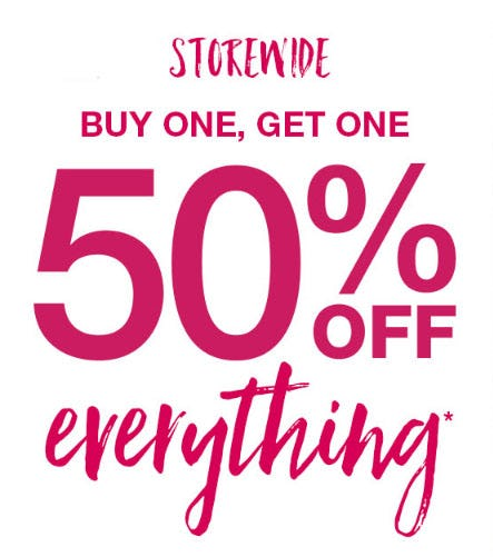 BOGO 50% Off Everything from maurices