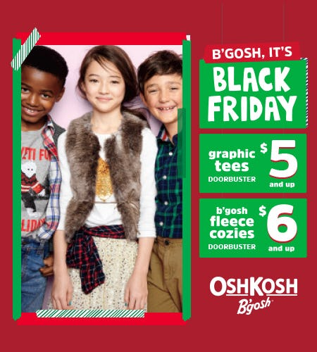 $5 & Up Black Friday Doorbusters from Oshkosh B'gosh