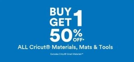 BOGO 50% Off All Cricut Materials, Mats and Tools from Michaels