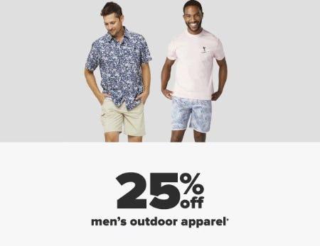 25% Off Men's Outdoor Apparel from Belk