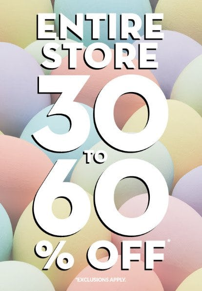 Entire Store 30 to 60% Off from The Children's Place