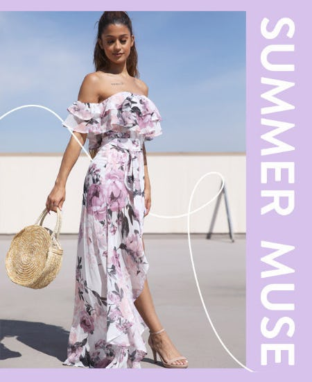 New Floral High Low Maxi Dress from Papaya