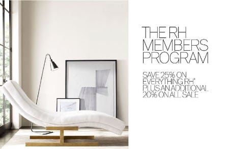 25% Off Everything from Restoration Hardware