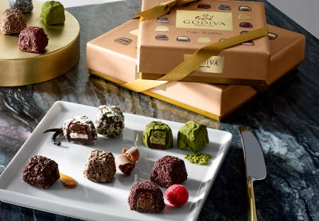 NEW Cube Truffles from Godiva Chocolatier