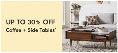 Up to 30% Off Coffee and Side Tables
