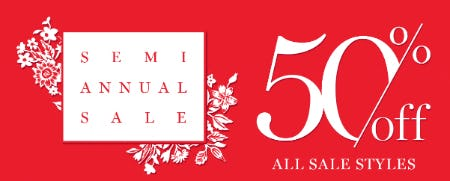 Semi Annual Sale: 50% Off from Vera Bradley