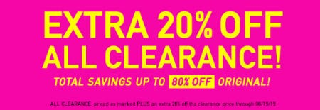 Extra 20% Off All Clearance from A'gaci