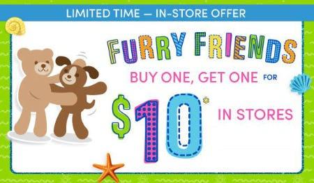 BOGO $10 Furry Friends from Build-A-Bear Workshop