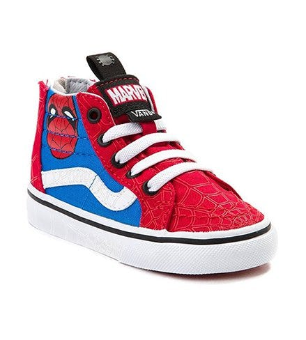Toddler Vans Sk8 Hi Marvel Avengers Spider-Man Skate Shoes from Journeys Kidz