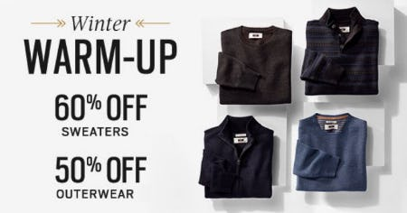 60% Off Sweaters & 50% Off Outerwear from Men's Wearhouse and Tux