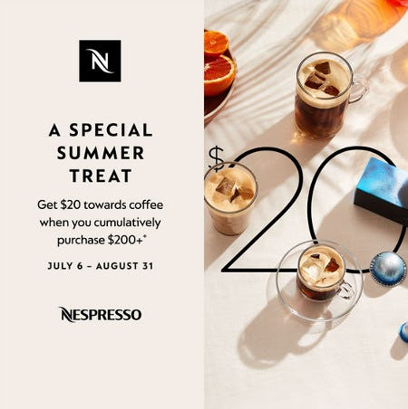 A Special Summer Treat from Nespresso