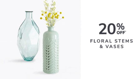 20% Off Floral Stems & Vases from Pier 1 Imports
