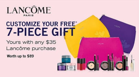 Free Gift with $35 Lancôme Purchase from Belk