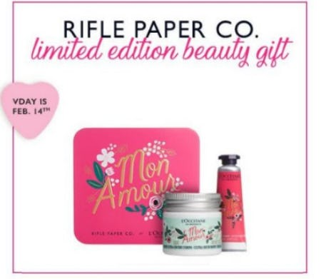 Free Limited Edition Beauty Gift from L'Occitane