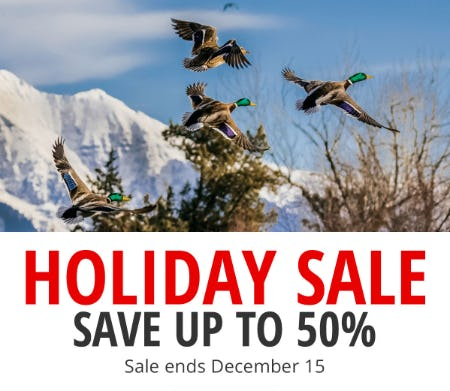 Holiday Sale: Save Up to 50% from Cabela's