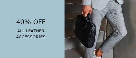 40% Off on All Leather Accessories from ECCO