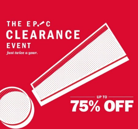 The Epic Clearance Event up to 75% Off from Old Navy