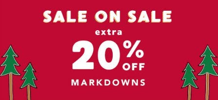Extra 20% Off Markdowns